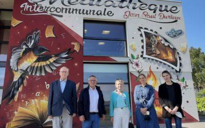Culture : fresque murale à la Médiathèque Jean-Paul Durieux