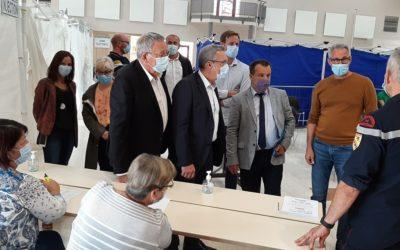 Vaccination : Frédéric Carre, Sous-Préfet de Briey, est venu visiter le Centre de vaccination de Mexy
