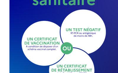 Pass sanitaire obligatoire à Osmose et à la Médiathèque